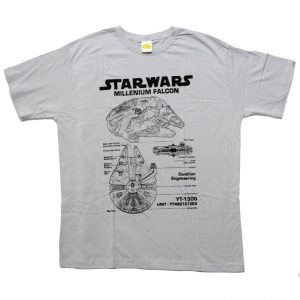 Camiseta Star Wars Millenium Falcon - Cinza